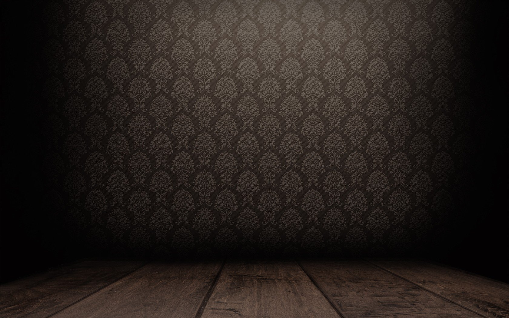 floor patterns brown empty room Dark Tranquillity backgrounds darker 1680x1050