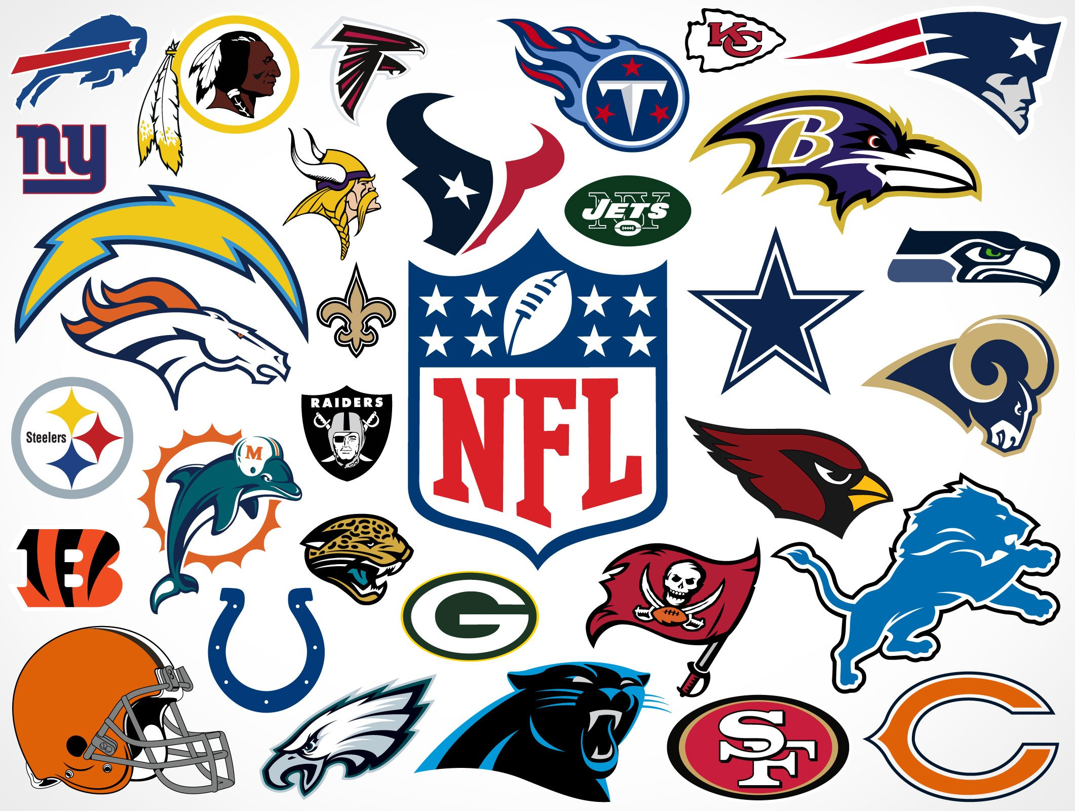 Free Download National Football League Team Vector Logos Market Your Psd Mockups 2122x1600 For Your Desktop Mobile Tablet Explore 48 All Nfl Team Logo Wallpapers Free Nfl Wallpapers And