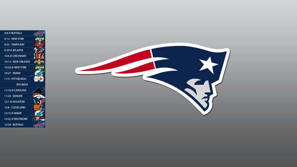 New England Patriots 2013 Schedule Wallpaper by SevenwithaT on 1024x576