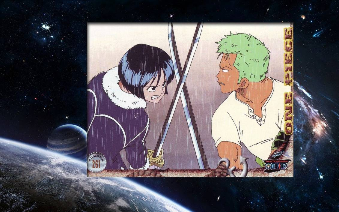 Zoro vs Tashigi Wallpaper by weissdrum 1131x707