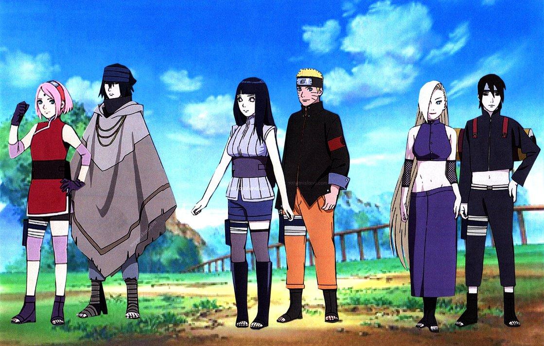 Naruto Hinata Sasuke Sakura Sai Ino Wallpaper by weissdrum on 1119x713