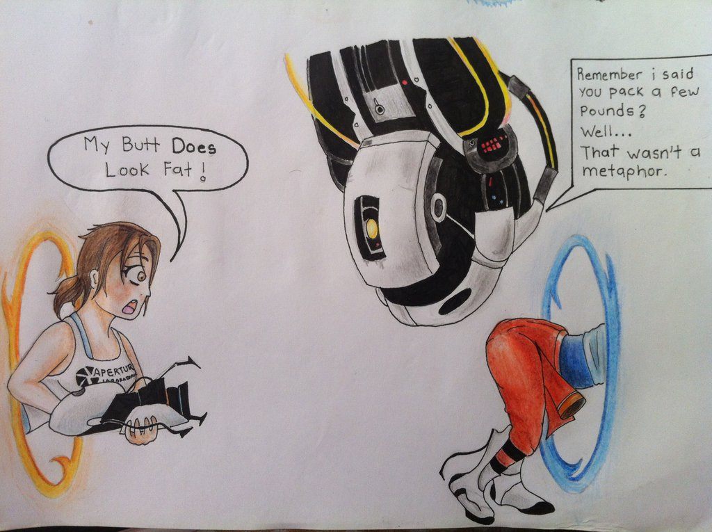 GLaDOS is Funny WATCH Portal 2 by TheGaboefects 1024x765