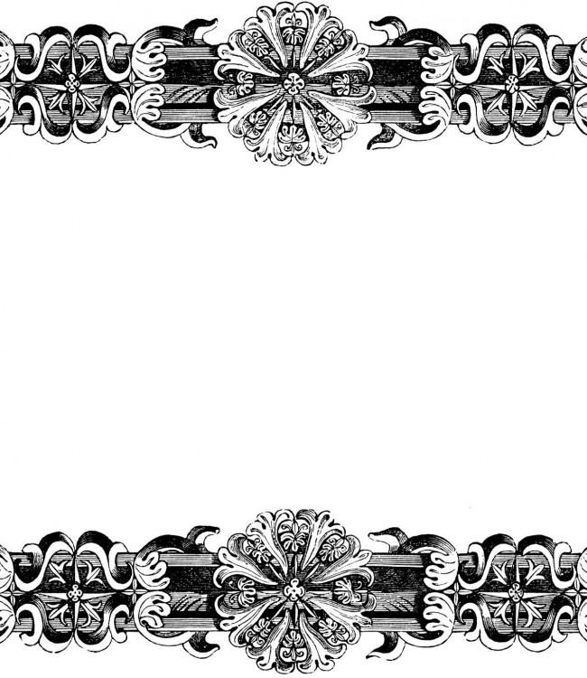 Victorian Wallpaper Borders 650x750