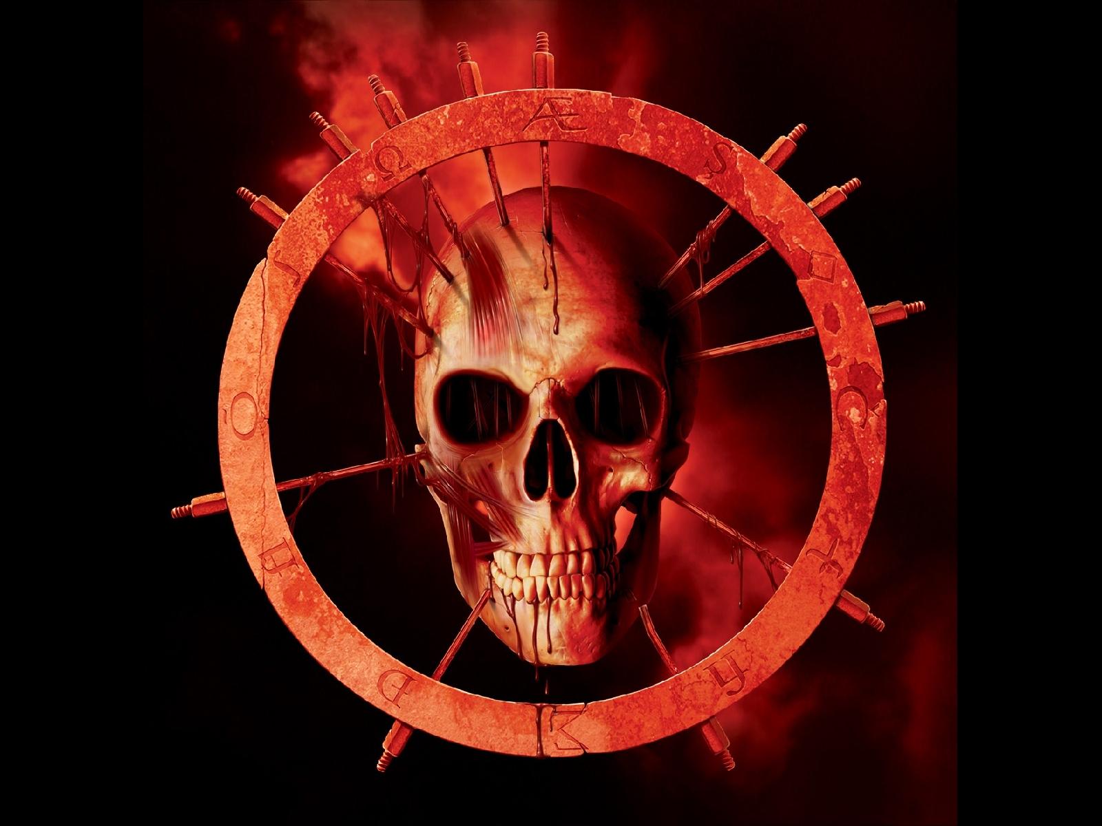skulls dark demon satanic satan evil occult blood wallpaper background 1600x1200