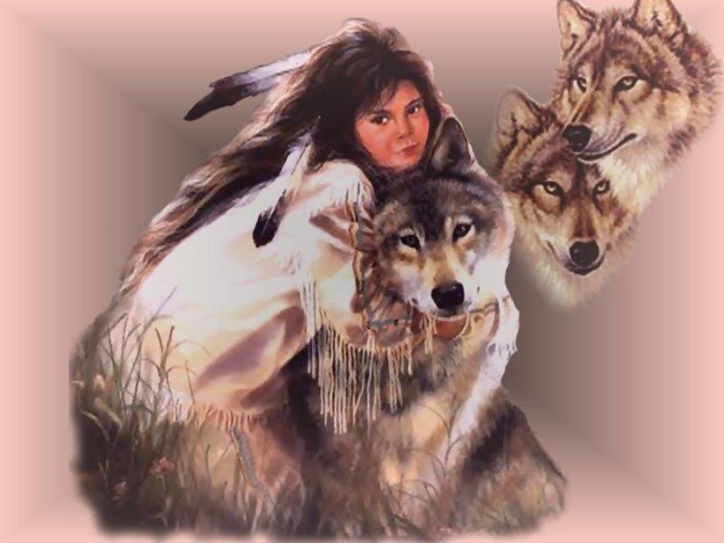 44 Native American Wolf Wallpaper Free On Wallpapersafari