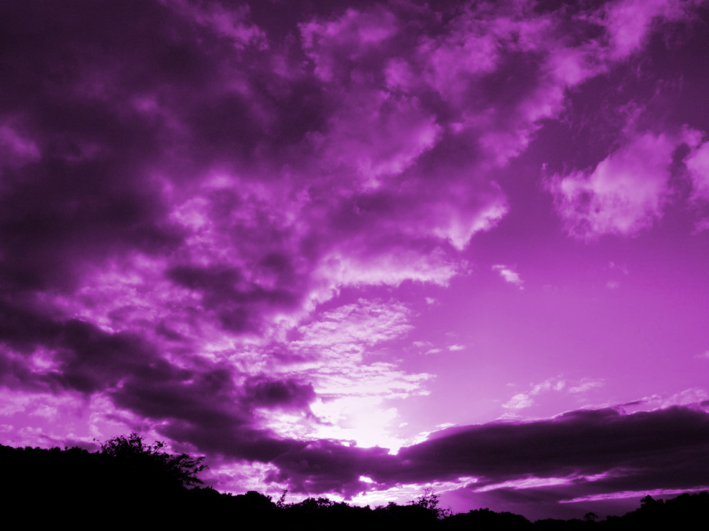 Как сделать небо фиолетовым в фотошопе