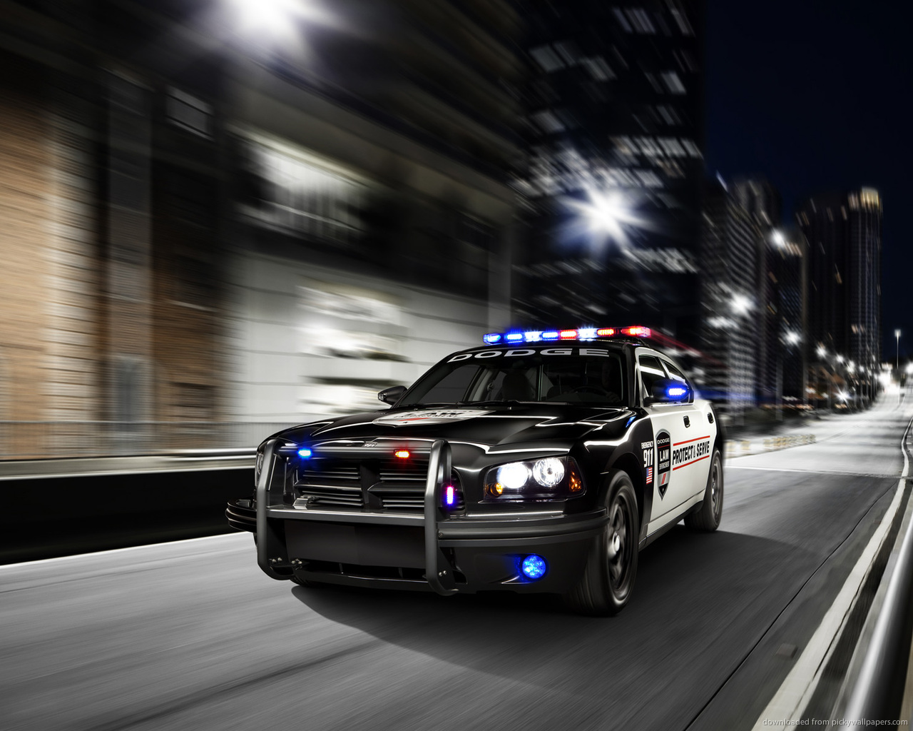 Charger Police Cars Hd Wallpaper Desktop High Definitions Wallpapers 1280x1024