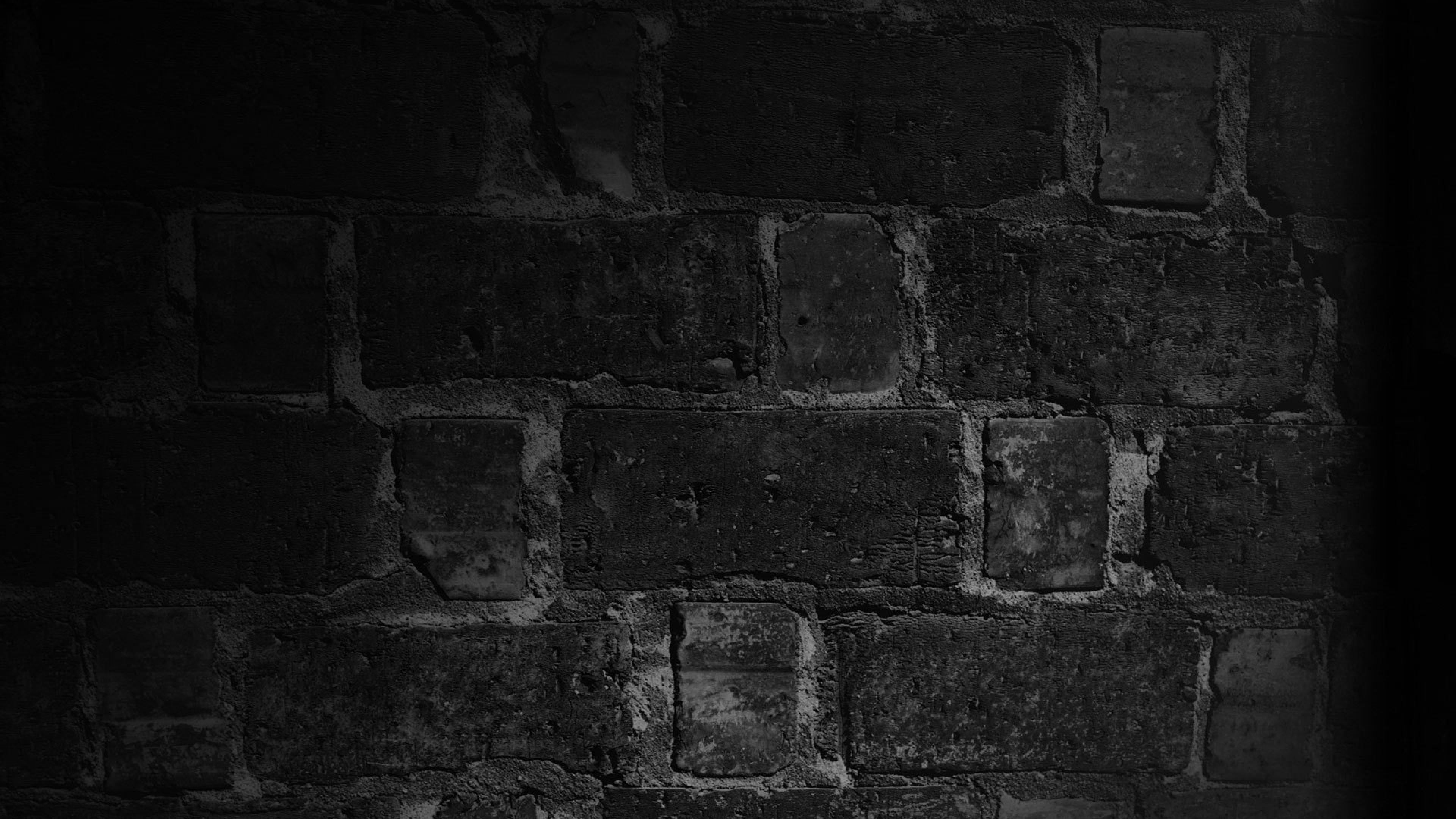 Black And White Wall Brick Texture Shadow WallpapersByte com 3840x2160 3840x2160