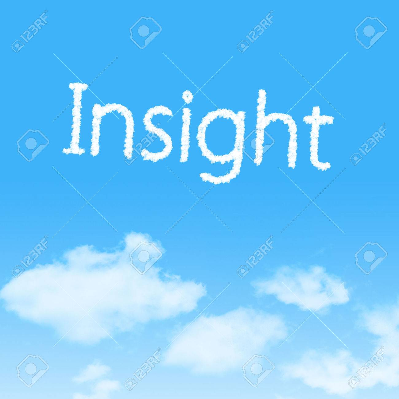 Insight Cloud Icon With Design On Blue Sky Background Stock Photo 1300x1300