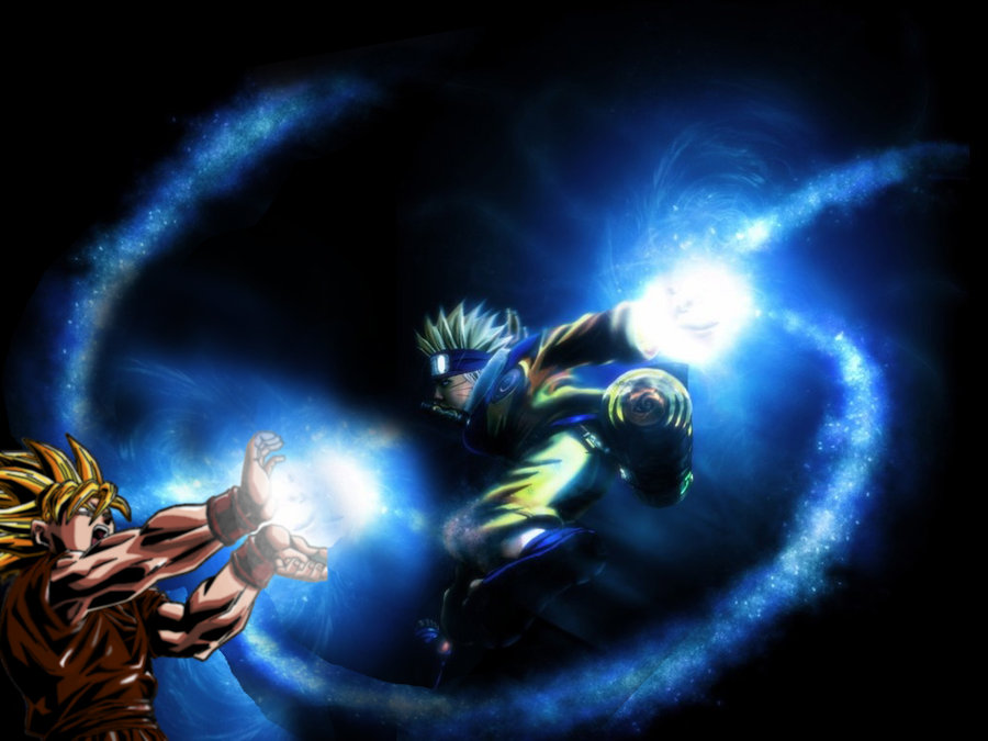 Goku from Dragonball fighting Naruto great image http 900x675
