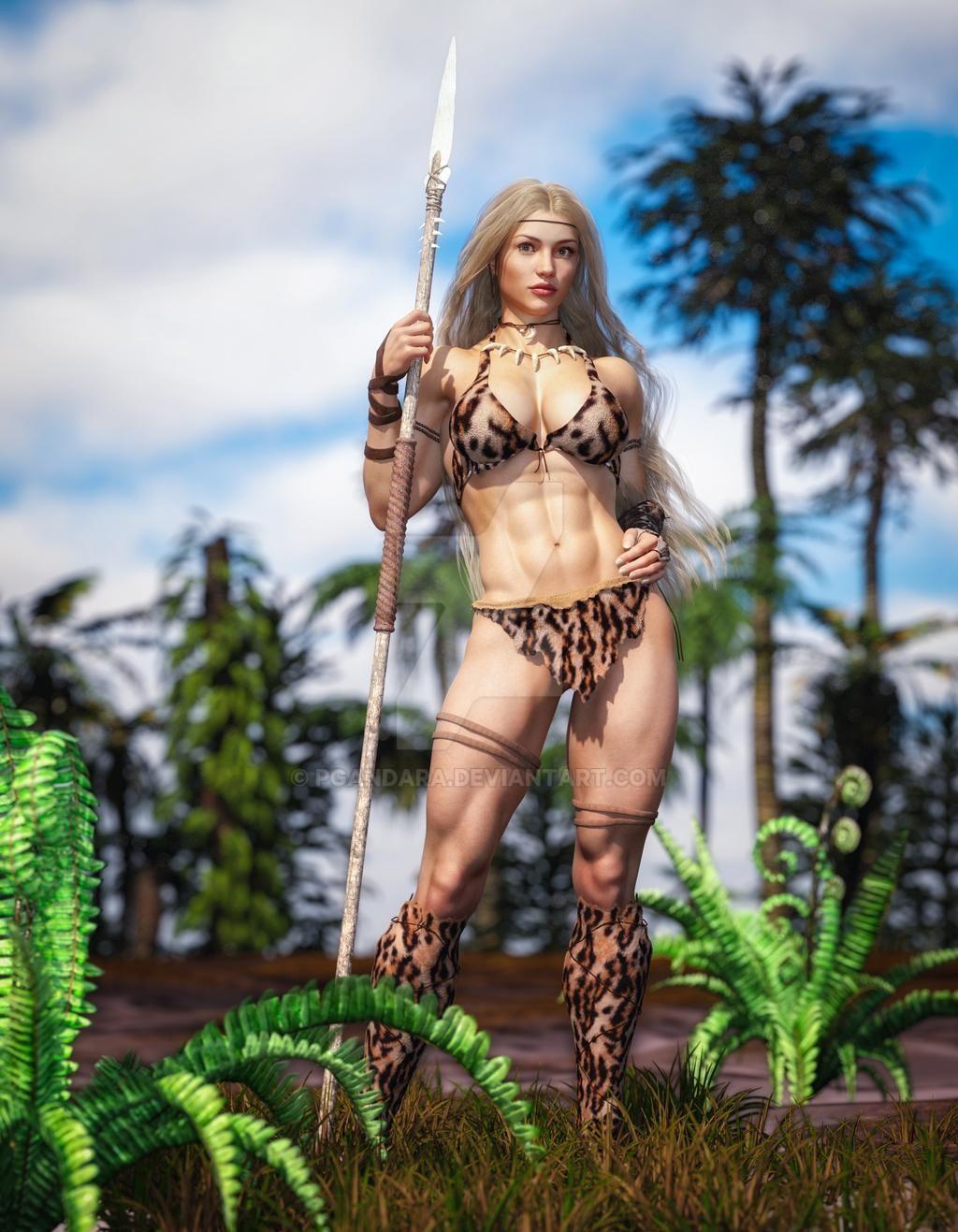 Cavewoman by PGandara 1024x1317