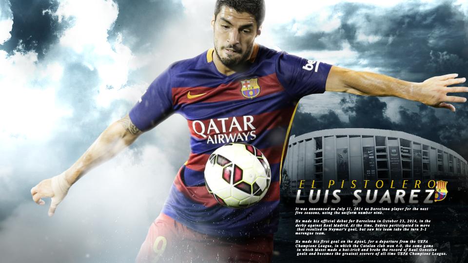 Luis Suarez FC Barcelona Wallpaper by LuisGFXSoccer 960x540
