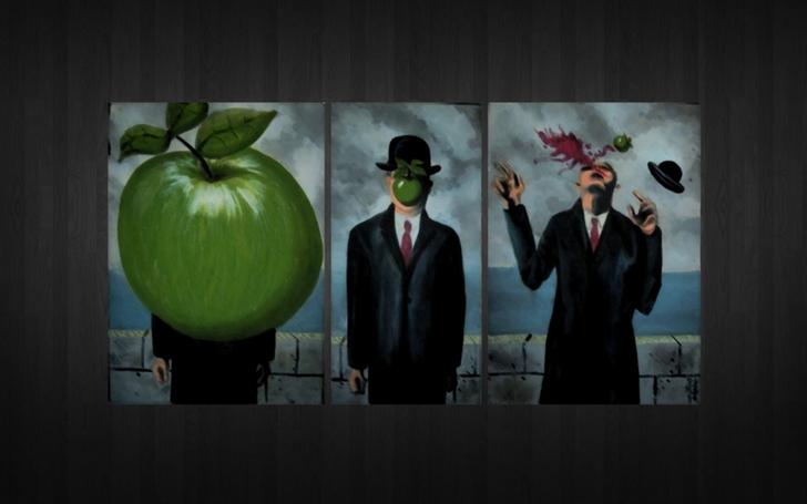 rene magritte son of man 1920x1200 wallpaper High Resolution Wallpaper 728x455