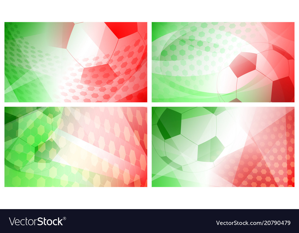 Soccer backgrounds in colors of italy or mexico Vector Image 1000x780