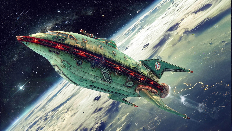 planet Express Futurama Spaceship Wallpapers HD 3000x1688