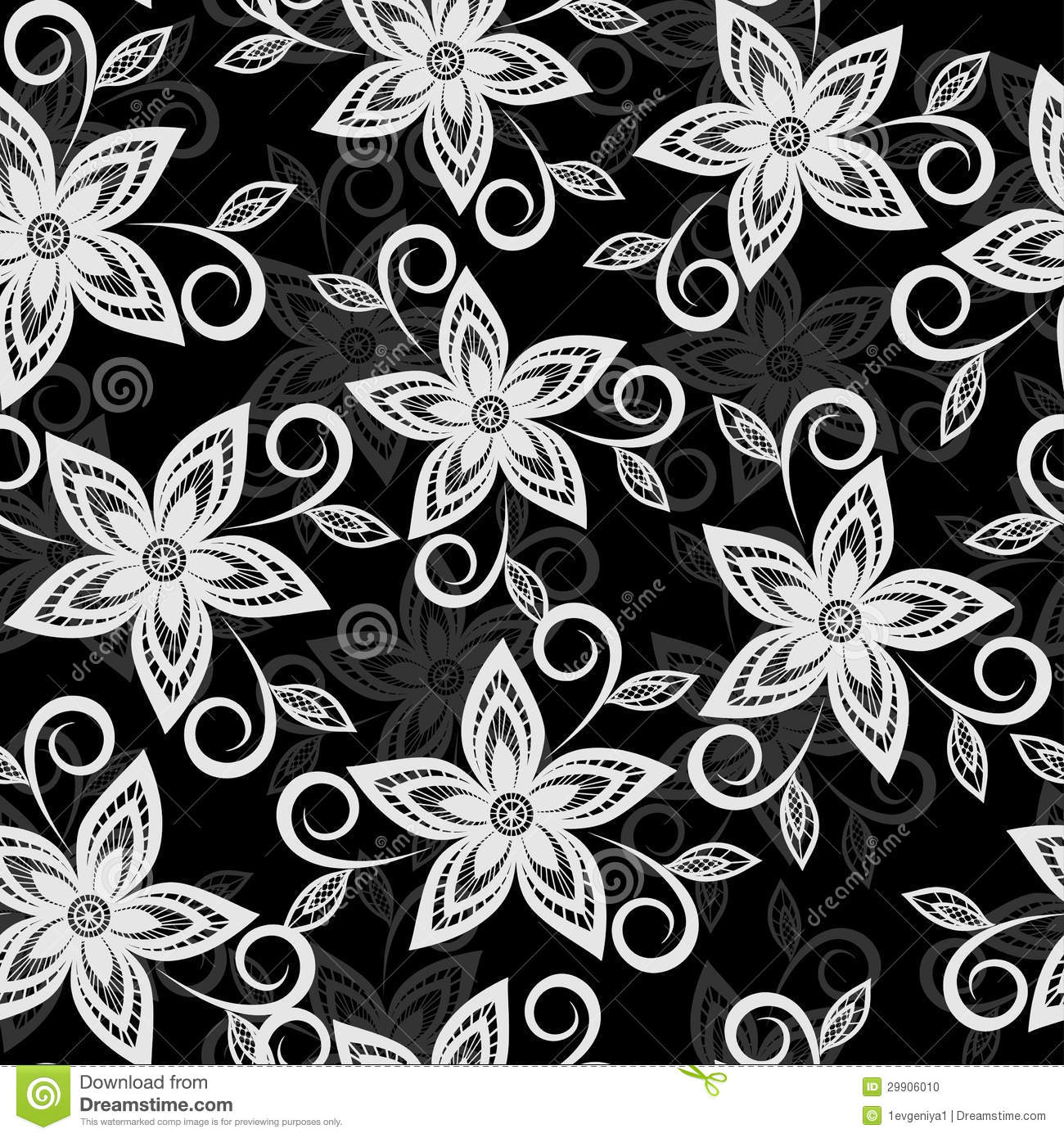 48 Black And White Floral Wallpaper On Wallpapersafari