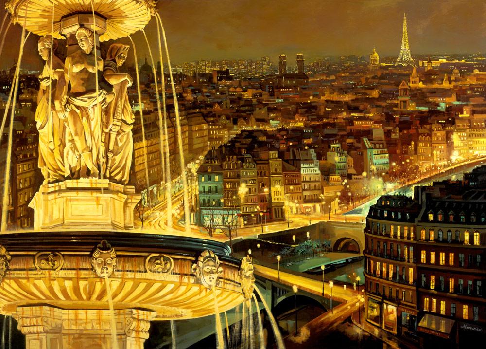 Paris France at Night download wallpaper 1000x717