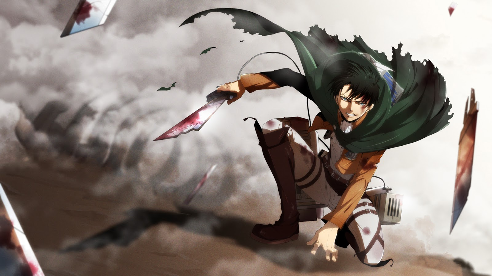 levi attack on titan shingeki no kyojin anime hd wallpaper 1600x900