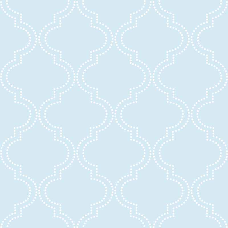 Blue Quatrefoil Peel And Stick NuWallpaper   RosenberryRoomscom 800x800