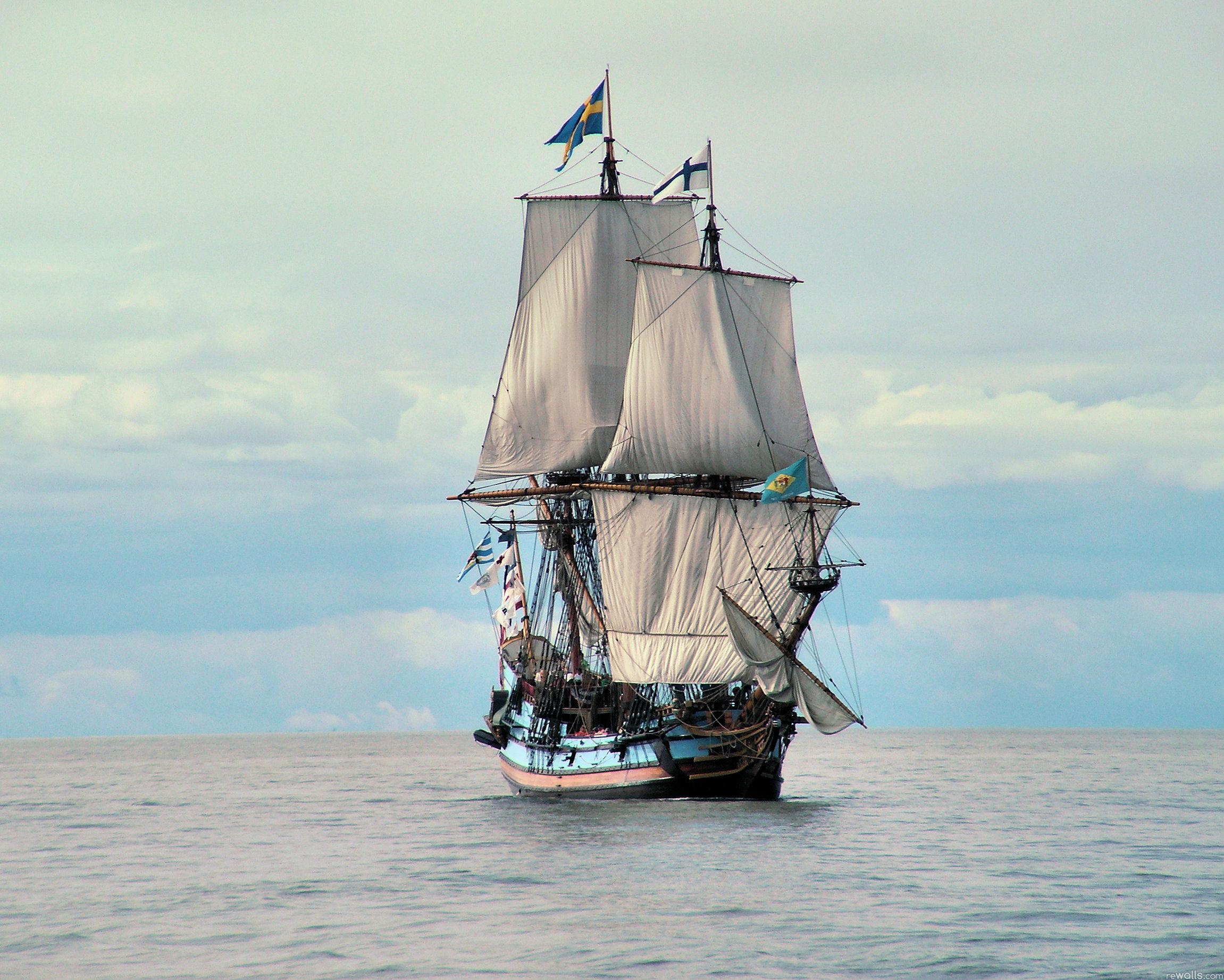 HD Widescreen Sailing Ship Wallpaper - WallpaperSafari