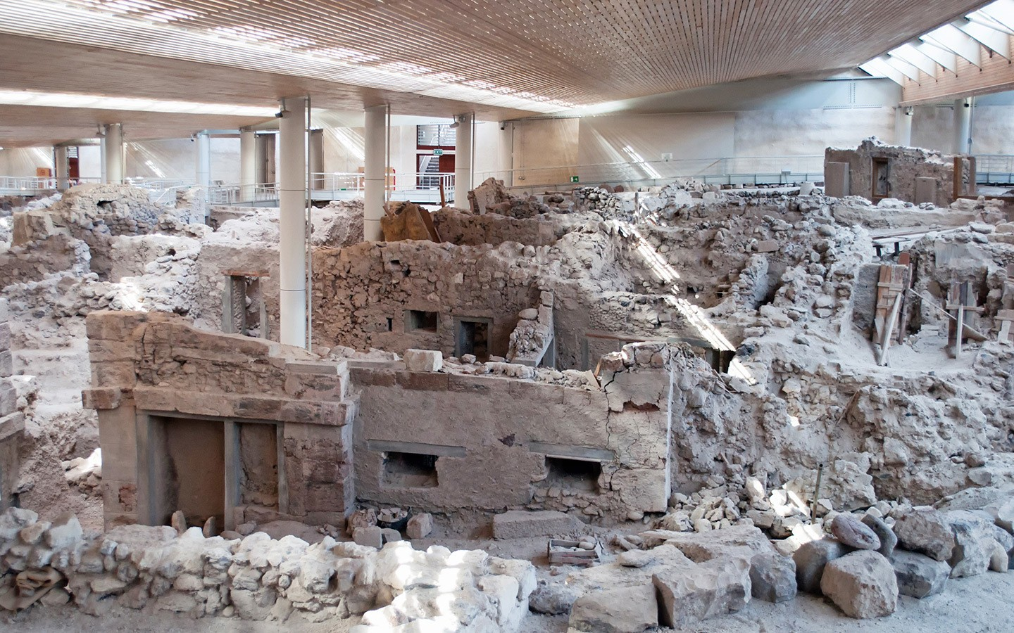 The ancient buried city of Akrotiri Santorini Greeces Pompeii 1440x900