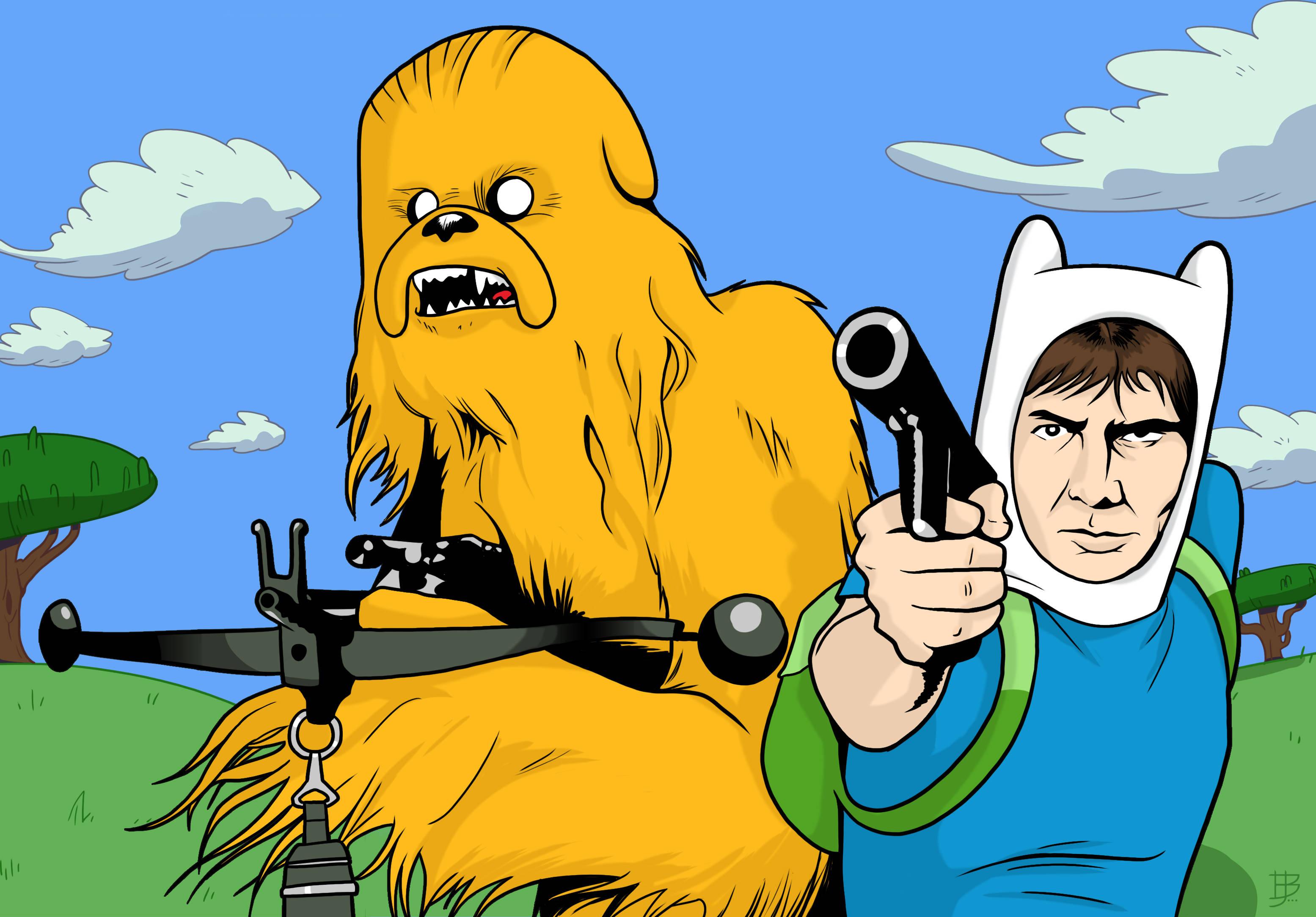 When Star Wars Meets Adventure Time [3110x2167] iimgurcom 3110x2167