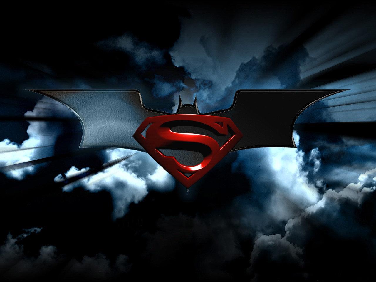 Superman And Batman Logo Wallpaper Wallpapersafari