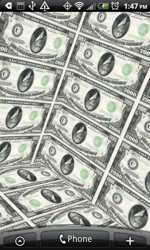3D Money Cube Live Wallpaper   screenshot 480x800