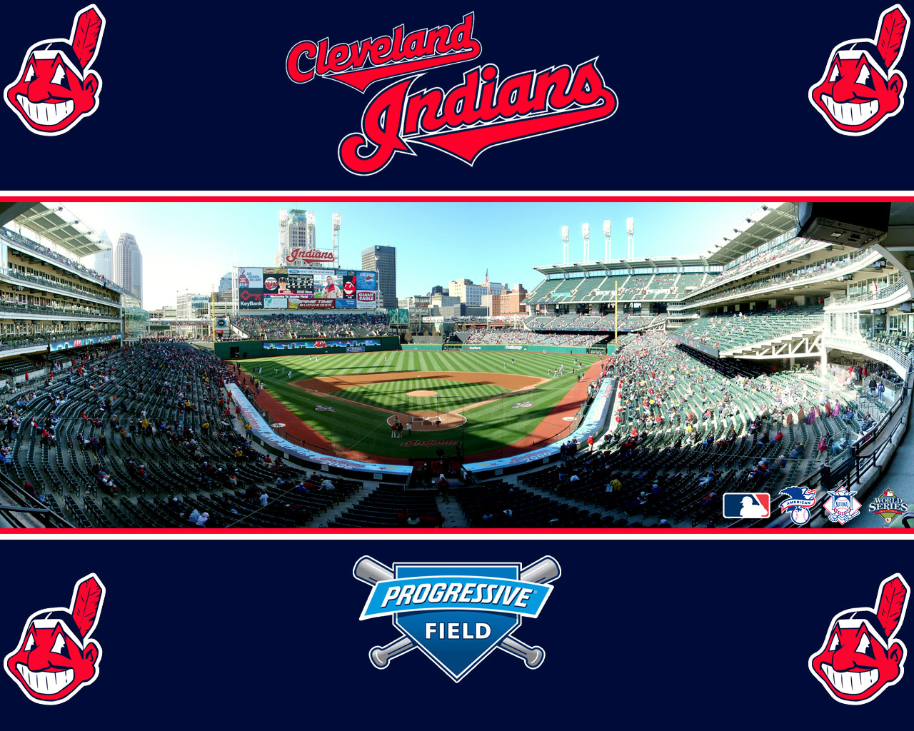 Cleveland Indians Chrome Themes Desktop Wallpapers More 1280x1024
