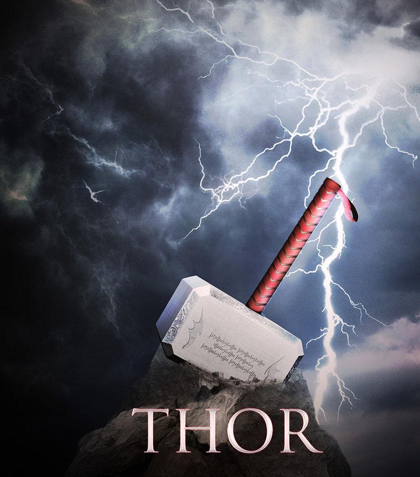 Thor 39 s hammer wallpaper wallpapersafari - Thor art wallpaper ...