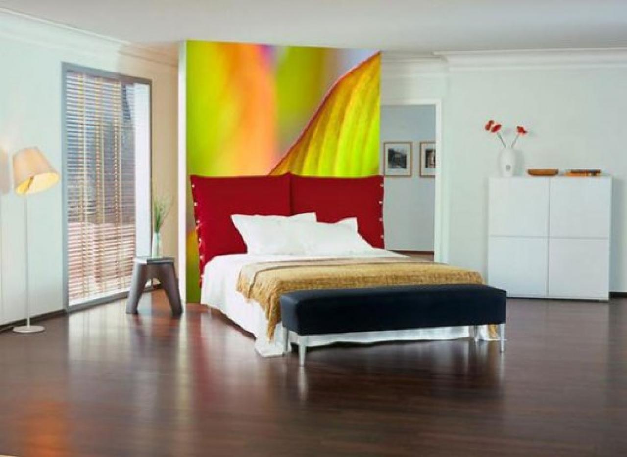 Modern bedroom wallpaper decoration ideas 1280x933