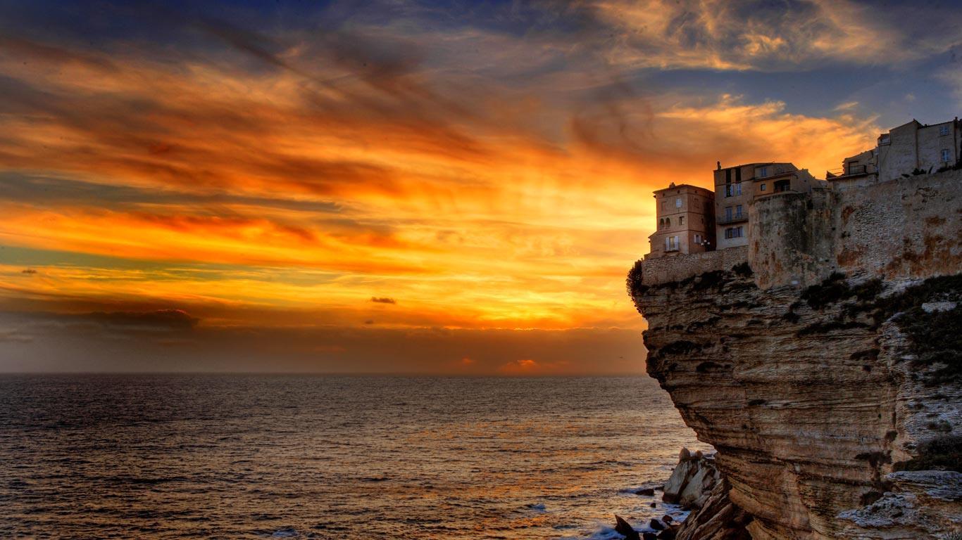 Bing Images   Bonifacio   Bonifacio Corsica France Eric Robert 1366x768