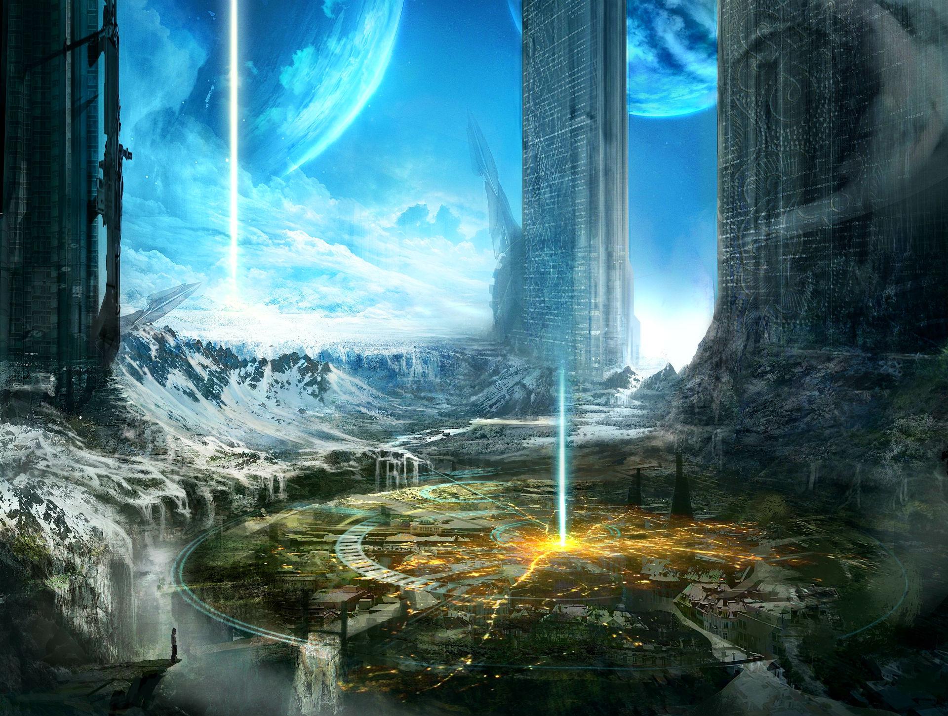 Sci Fi Desktop Backgrounds: Sci Fi City Wallpaper