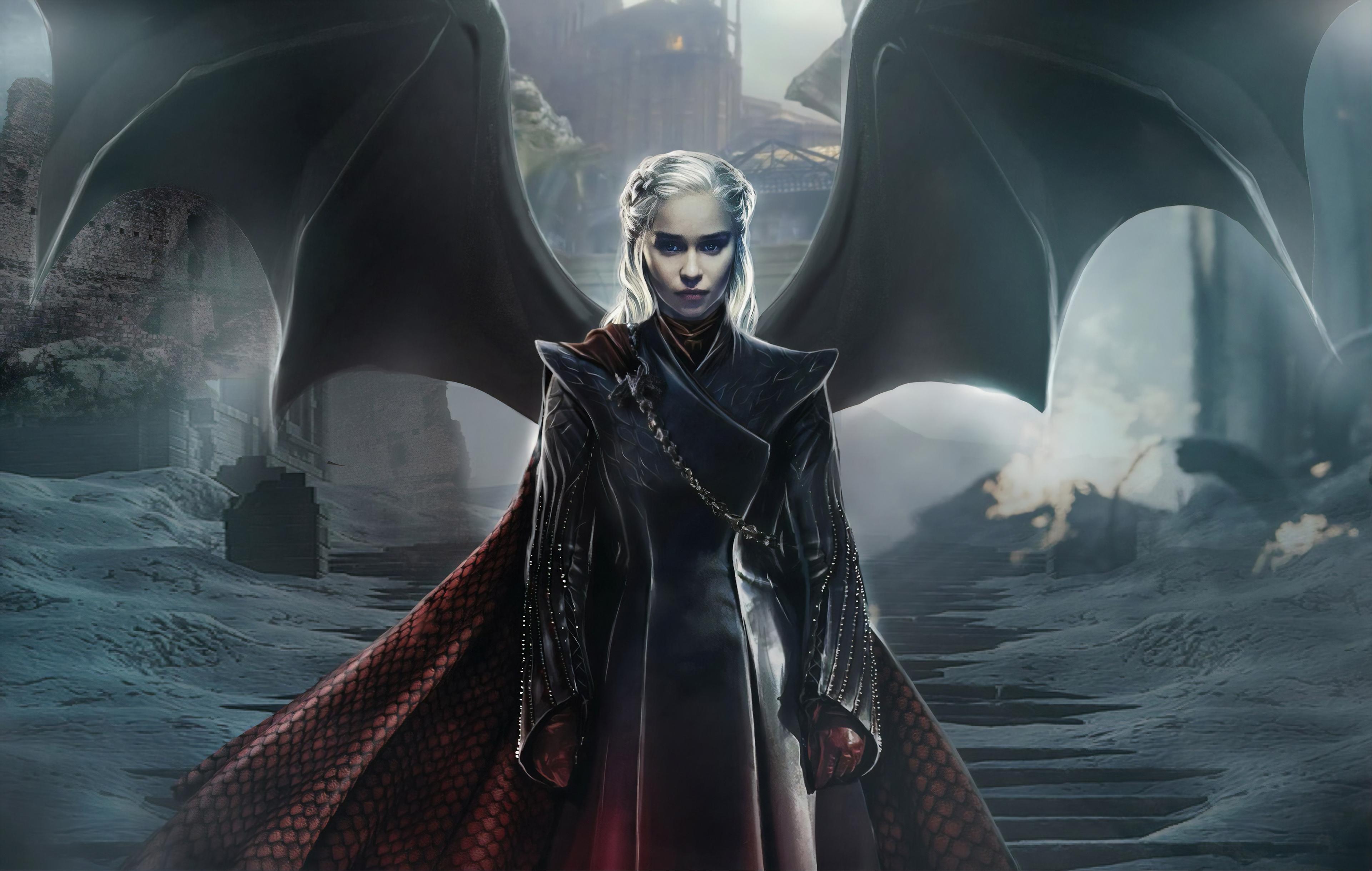 Daenerys Dragon wings Wallpaper   [3840x2438 3840x2438