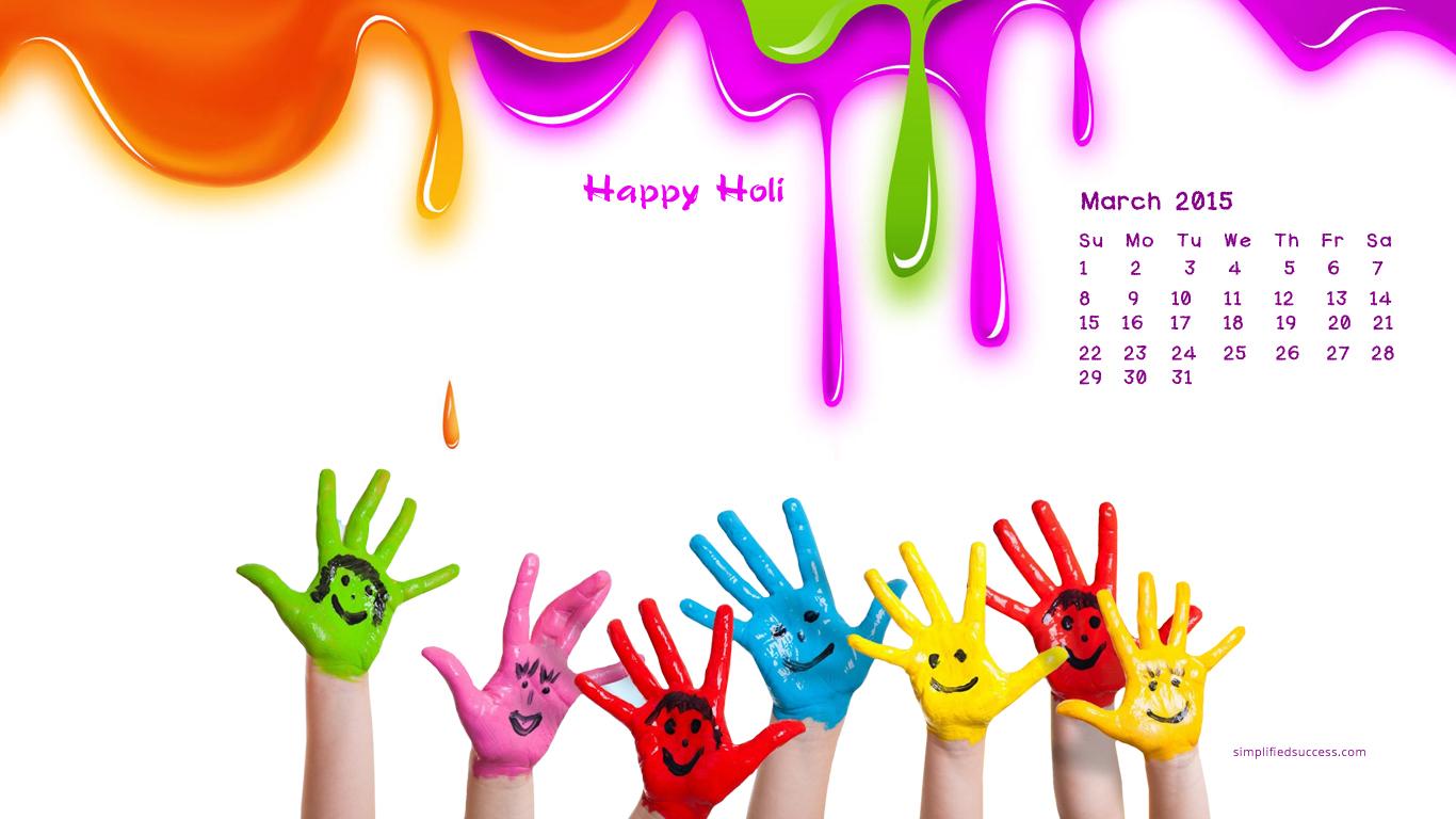Desktop Wallpapers Calendar March 2015 1366x768