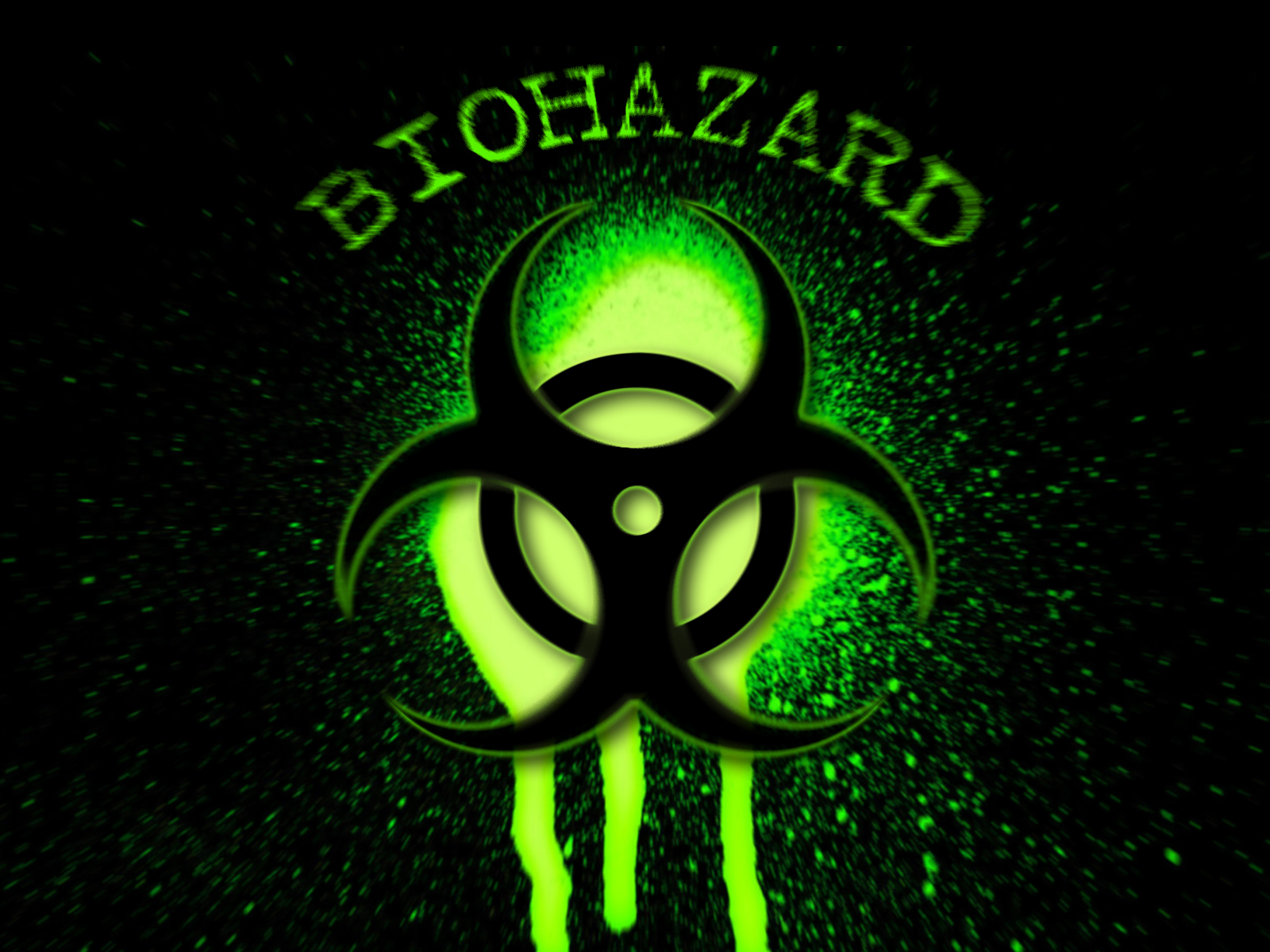 Gallery for   biohazard wallpaper green 1600x1200