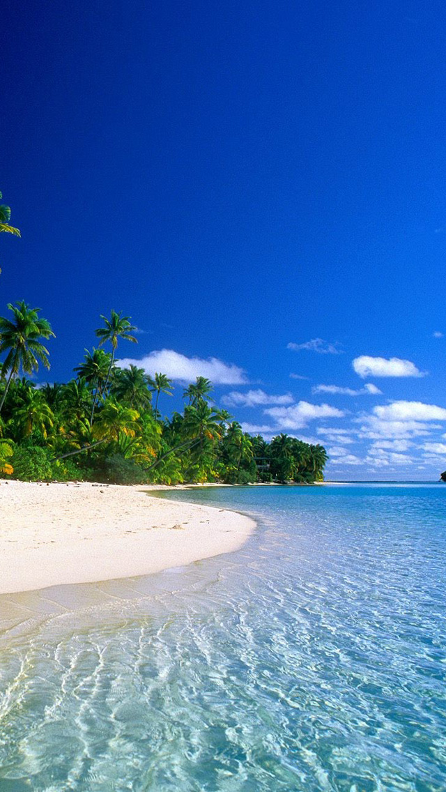 Download Beautiful Tropical Island Beach HD Wallpapers for iPhone 5 640x1136