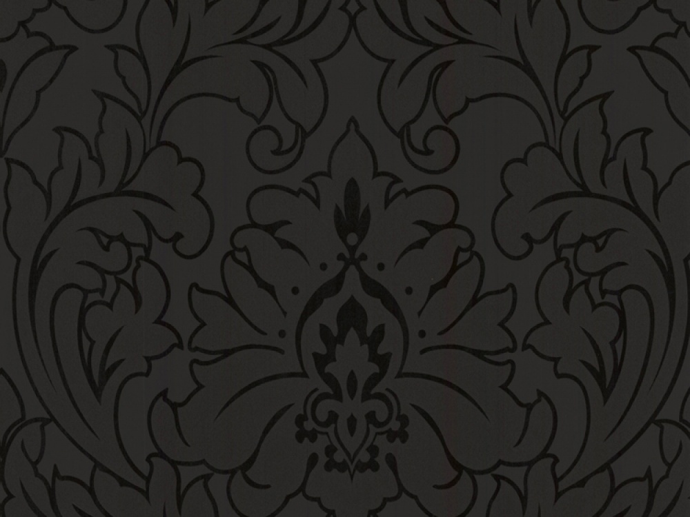 Delivery on Majestic Black on Black Damask Wallpaper 1000x750