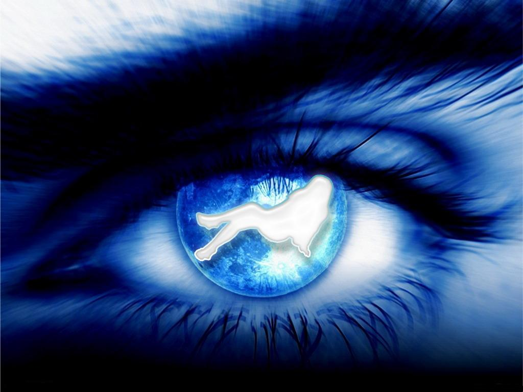 wallpaper best size Abstract Blue Eye wallpaper 1024x768