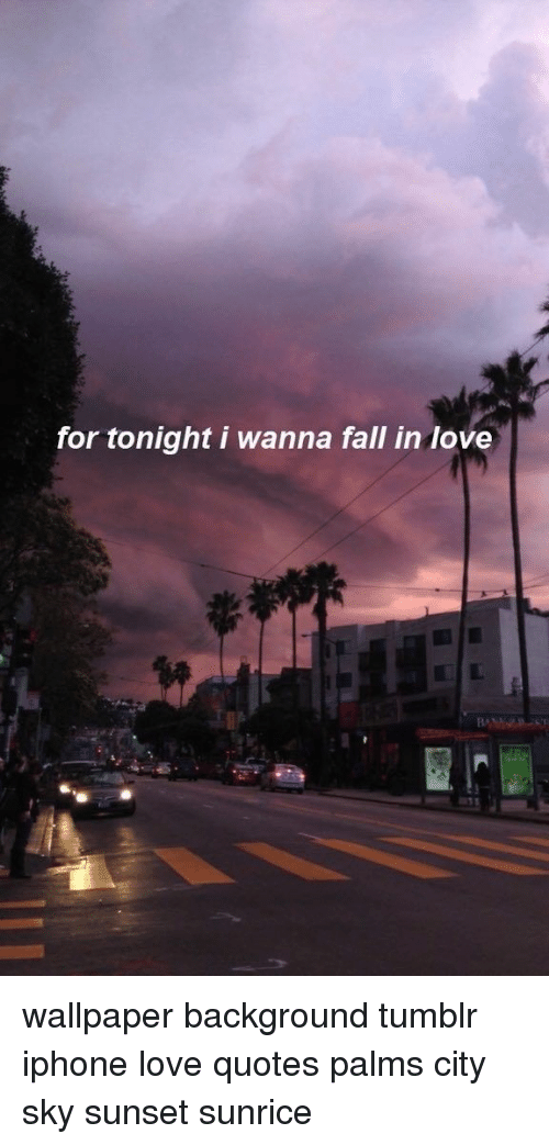 For Tonight I Wanna Fall in Love Wallpaper Background Tumblr 500x1043
