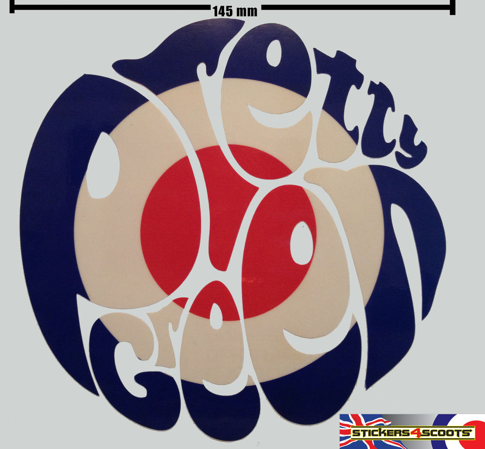 Vespa Mods Logo Pretty Green Sticker Decal Mod 1000x926