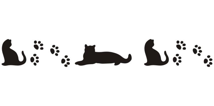 PRV72414 Kitty and Paw Border Print   129 Stencil Source Stencils 742x370