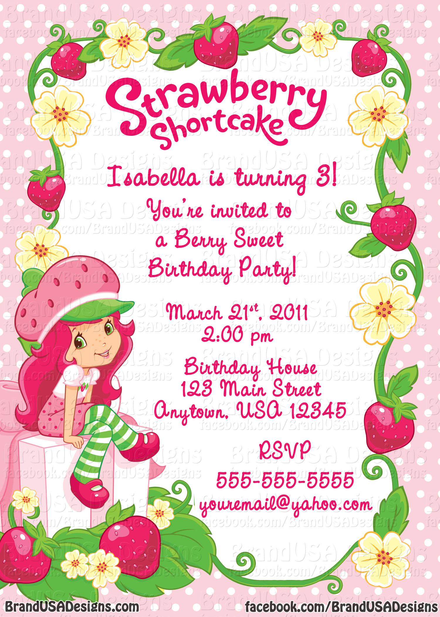 Strawberry Shortcake Background Strawberry sho 1500x2100