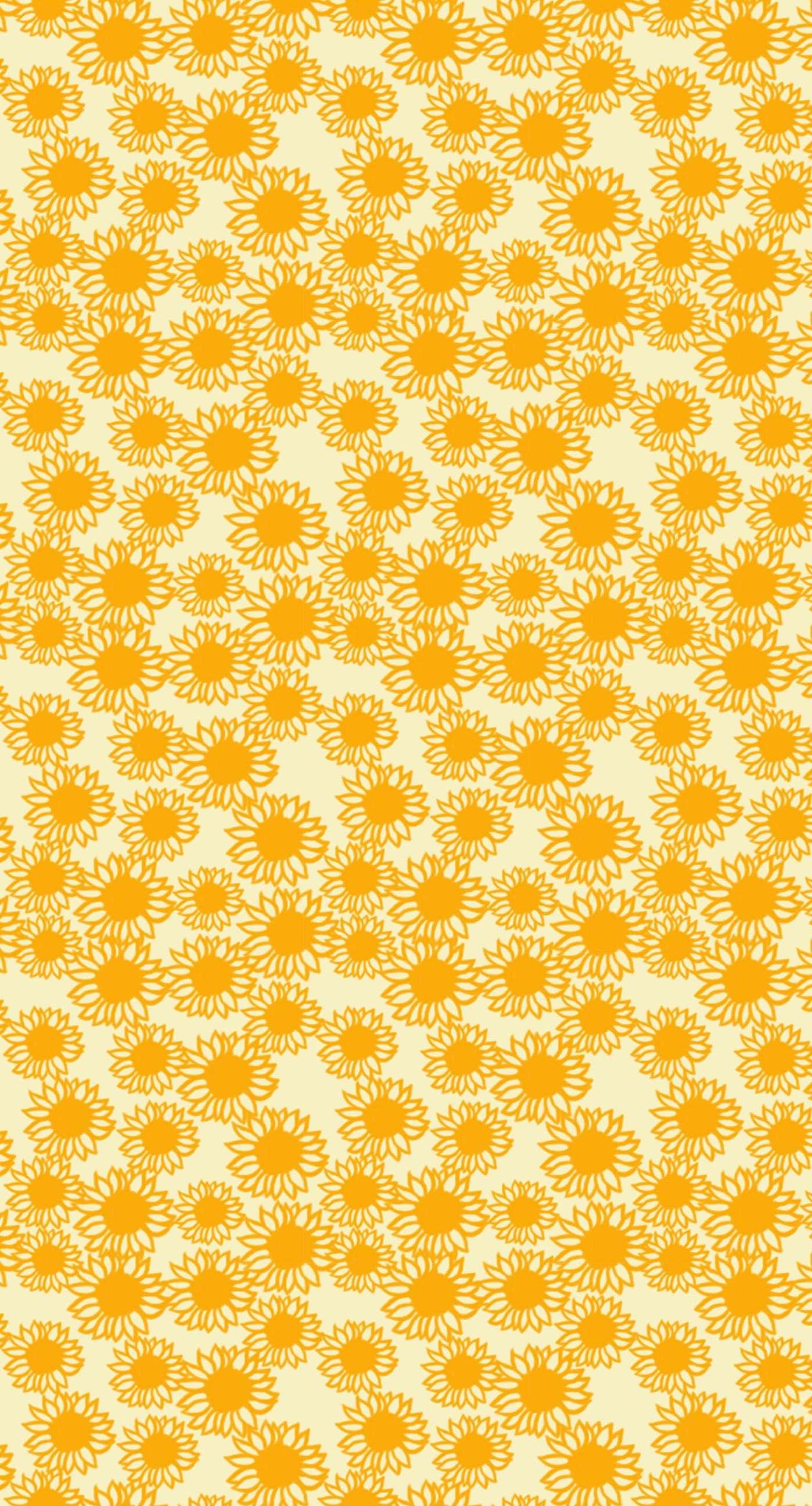 Pattern sunflower yellow women friendly wallpapersc iPhone7Plus 1398x2592