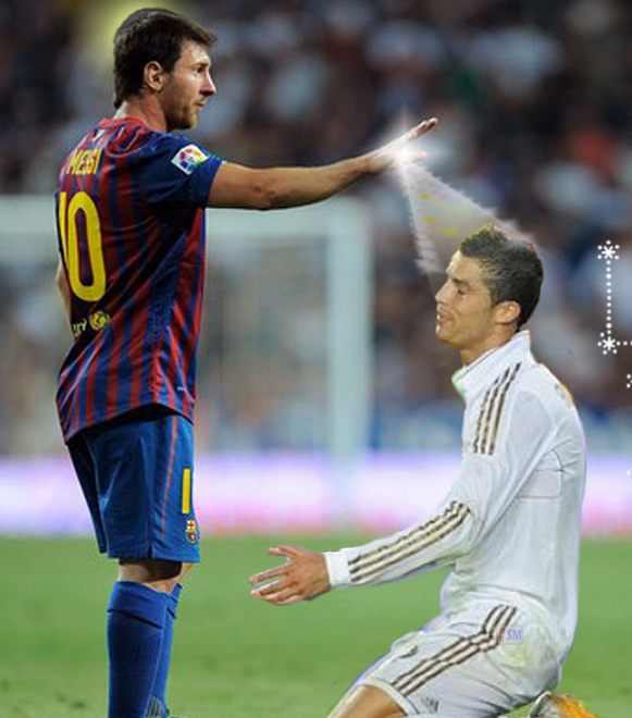 Funny Picture MESSINEYMAR AND RONALDO FUNNY PICTURE 581x660