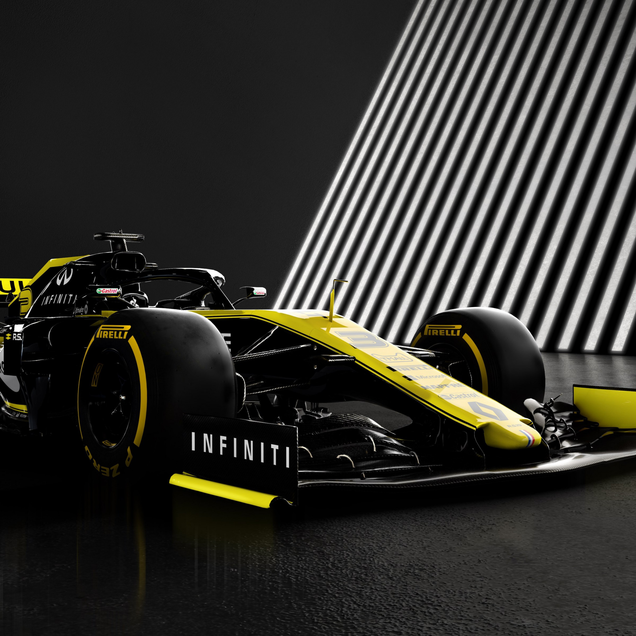 Download wallpaper Renault F1 RS19 2224x2224 2224x2224