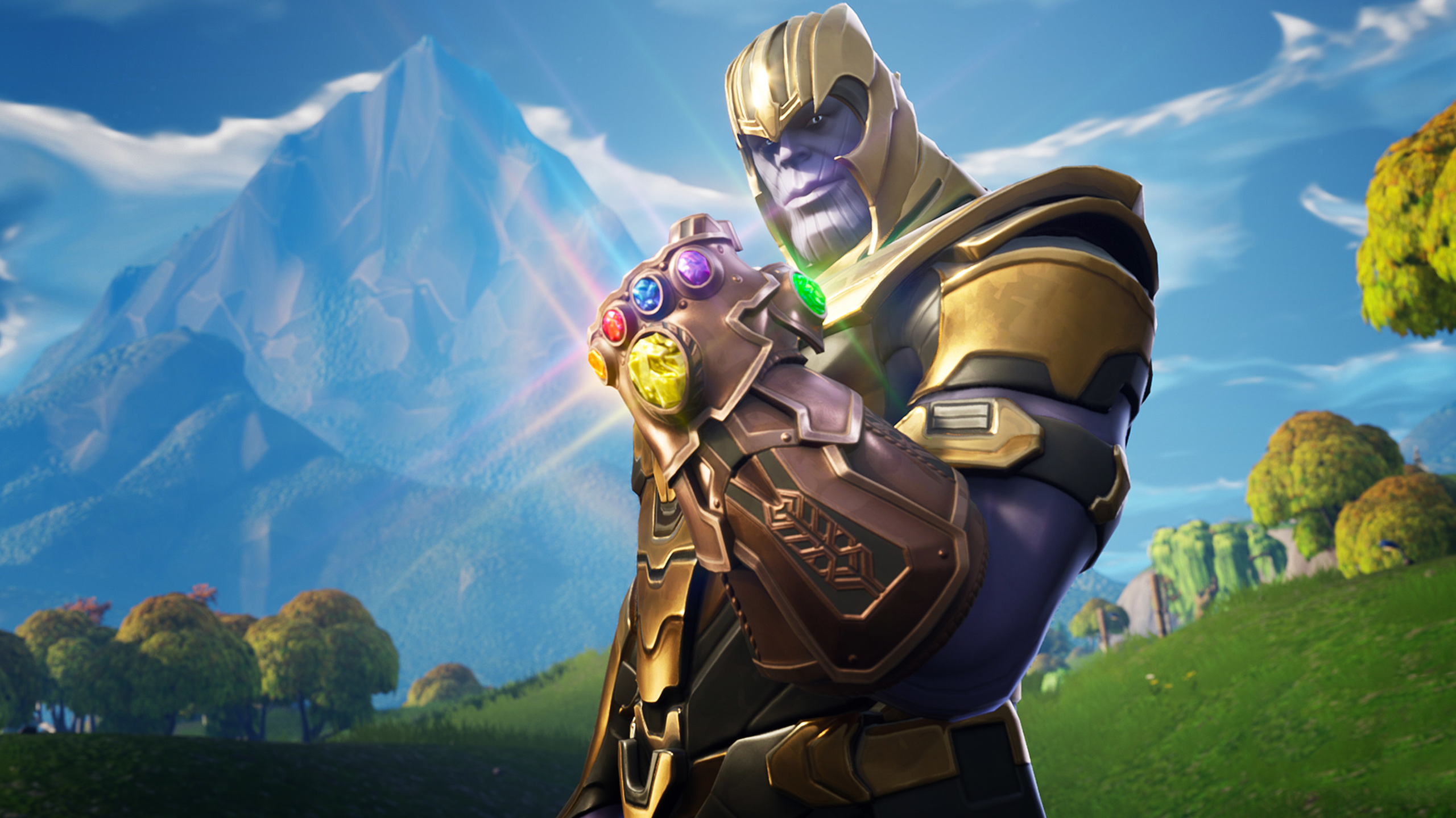 Free Download 2560x1440 Thanos In Fortnite Battle Royale