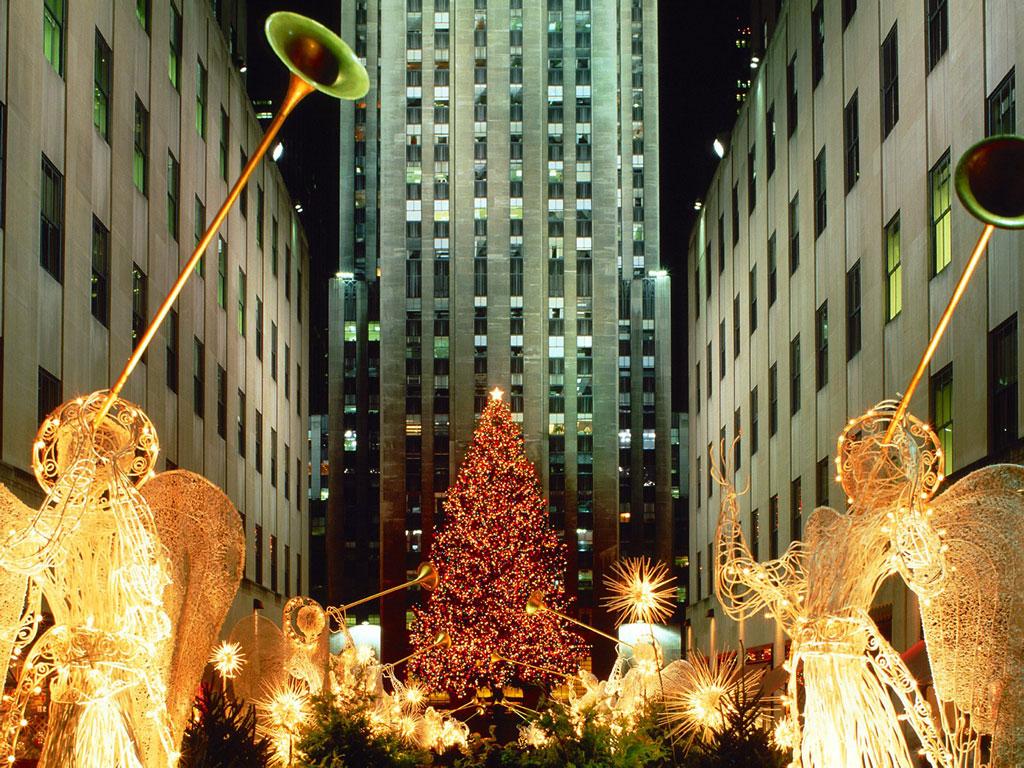 Christmas At Rockefeller Center New York City New York 1024x768