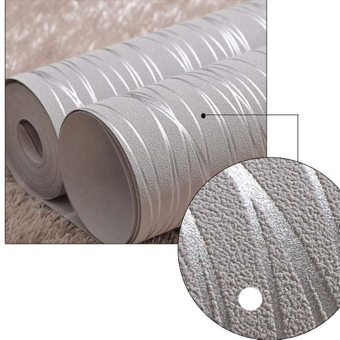 Wallpaper Rolls For Living Room Bedroom BeigeCreamy whiteGrey Silver 700x700