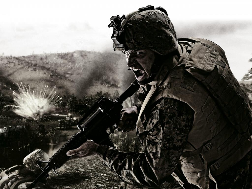 Download wallpaper wallpapers for desktop american soldier american 1024x768